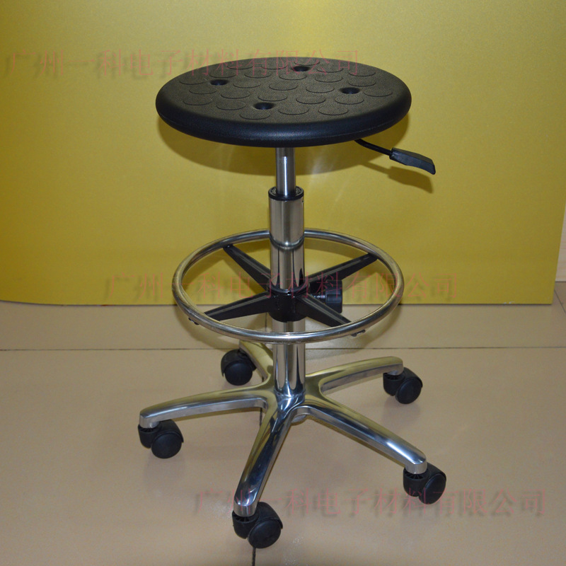 Manufacturers Direct Selling Customizable Heightening Production Line Stool PU Foaming Anti-static Height Adjustable Stool Chair