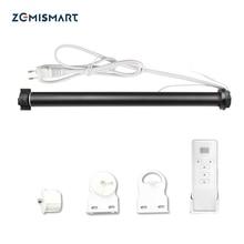 Zemismart tuya zigbee rolo sombra do motor para 38mm tubo alexa eco google casa smartthings controle motor elétrico obturador haste
