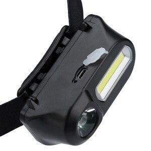 Image 4 - 1 шт. XPE LED COB светодиодный 6 режимный фар ремни регулируемые фары Перезаряжаемые Головной фонарь мероприятий на свежем воздухе Применение 18650 батарея