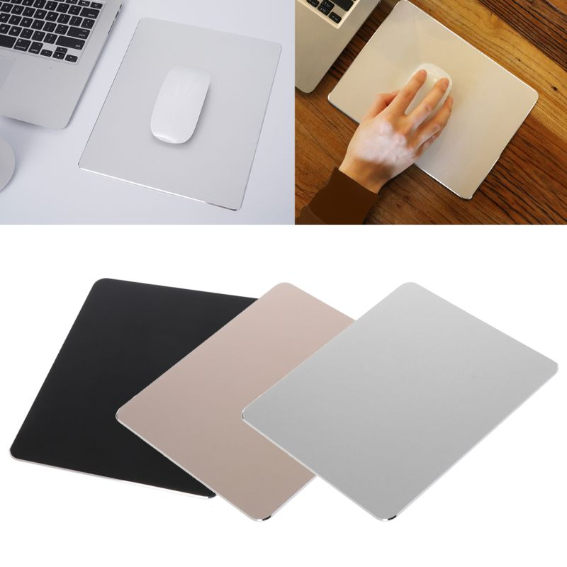 Aluminum Alloy Pad With Non-Slip Rubber Bottom Mouse Pad Anti Slip Mousepad J6PB