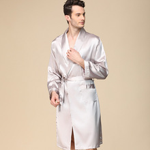 bath robe mens robes long sleeve nightgown silk men pajamas bathrobe silky gown kimono sleepwear sleep wearman