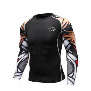 Image 5 - Mans spor eğitimi egzersiz T shirt erkek moda spor koşu gömlek Casual erkek giyim T Shirt erkek T shirt hızlı kuru