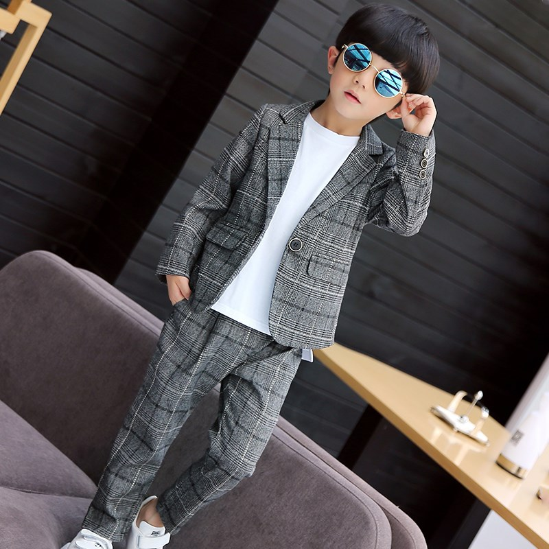 Childrenswear BOY'S Autumn Clothing 2017 New Style CHILDREN'S Business Suit Casual Suit Boy Spring And Autumn Korean-style Fashi