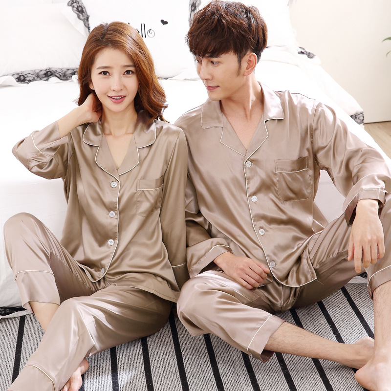 Sleepwear Men Pajamas-Sets Couple Rayon for Hombre Casual Women