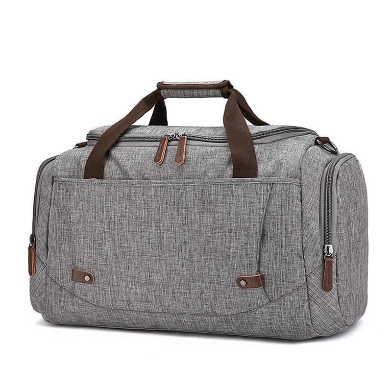 Bolsa de viaje de gran capacidad material anti salpicaduras para hombres y mujeres bolsa de viaje de color puro - 4