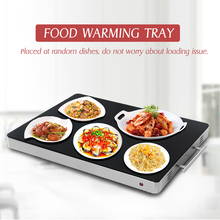Купить с кэшбэком ITOP Commercial Food Warm Tray Glass Embedded Wire Control Hot Plate Stainless Steel Buffet Electric Food Heating Plate 400W