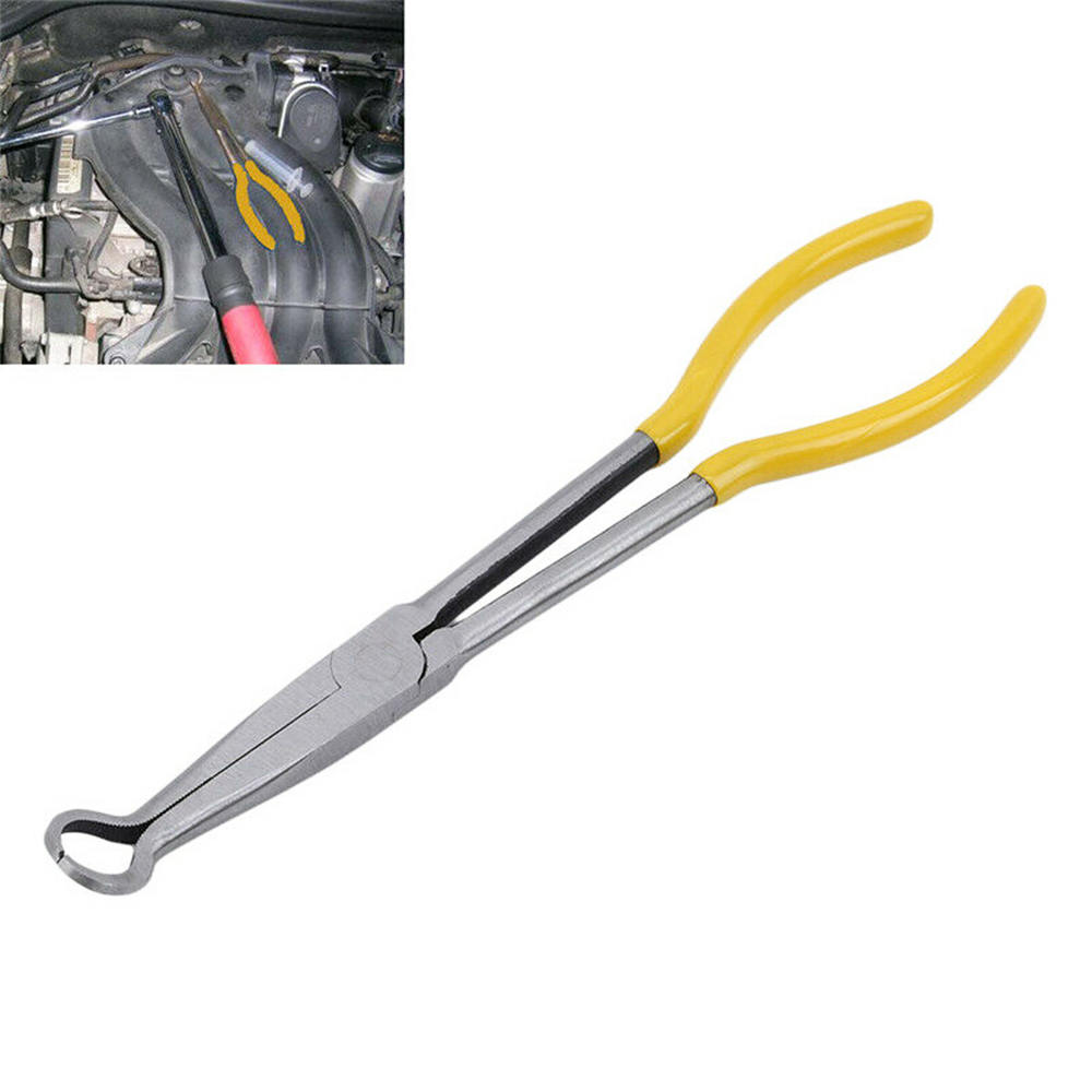 Car Spark Plug Wire Removal Pliers Long Nose Cylinder Cable Clamp Removal Tool Spark Plug Pliers