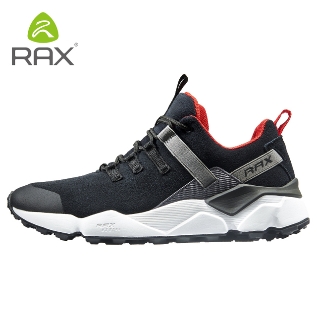 RAX New Mens Hiking Shoes Leather Waterproof Cushioning Breathable Shoes Women Outdoor Trekking Backpacking Travel Shoes Men
