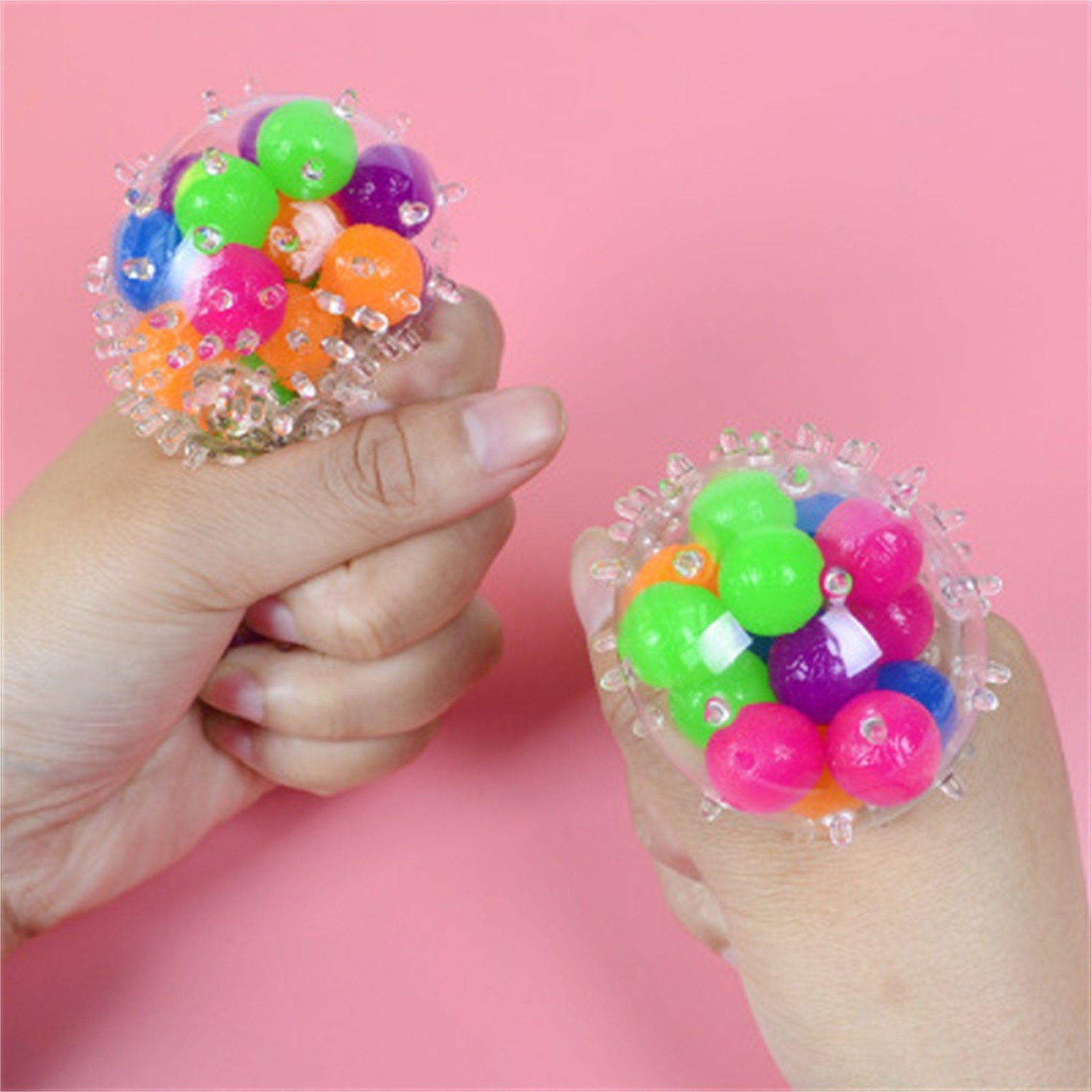 Toy Pressure-Toy Stress Adults for Kids Funny 10PCS Rainbow-Ball Spongy Squeezable Colorful img4