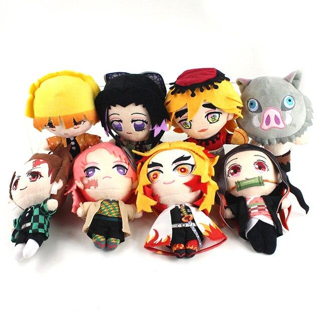 Démon tueur jouets en peluche Kochou Shinobu Kamado Nezuko Tanjirou Inosuke Zenitsu Rengoku Kyoujurou Sabito Douma doux poupées en peluche