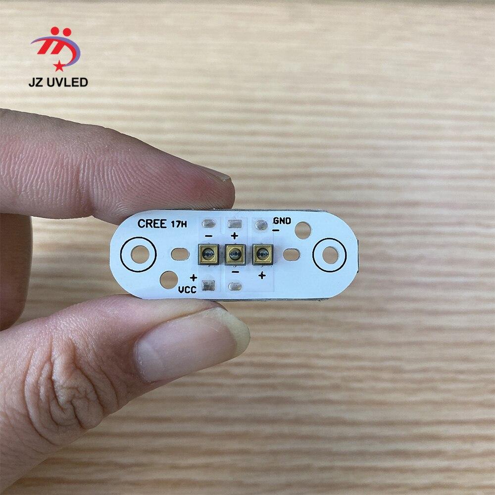 Lámpara LED UVC de 275nm, cuentas para placa de circuito de linterna de 16mm, equipo de desinfección UV, luz ultravioleta LED de 265/285nm Cuentas de lámpara LED UVC de 1W y 265nm para equipo médico para desinfección UV de 275nm SMD4545, Chip ultravioleta profundo LG de 5-9V, 150mA de Corea