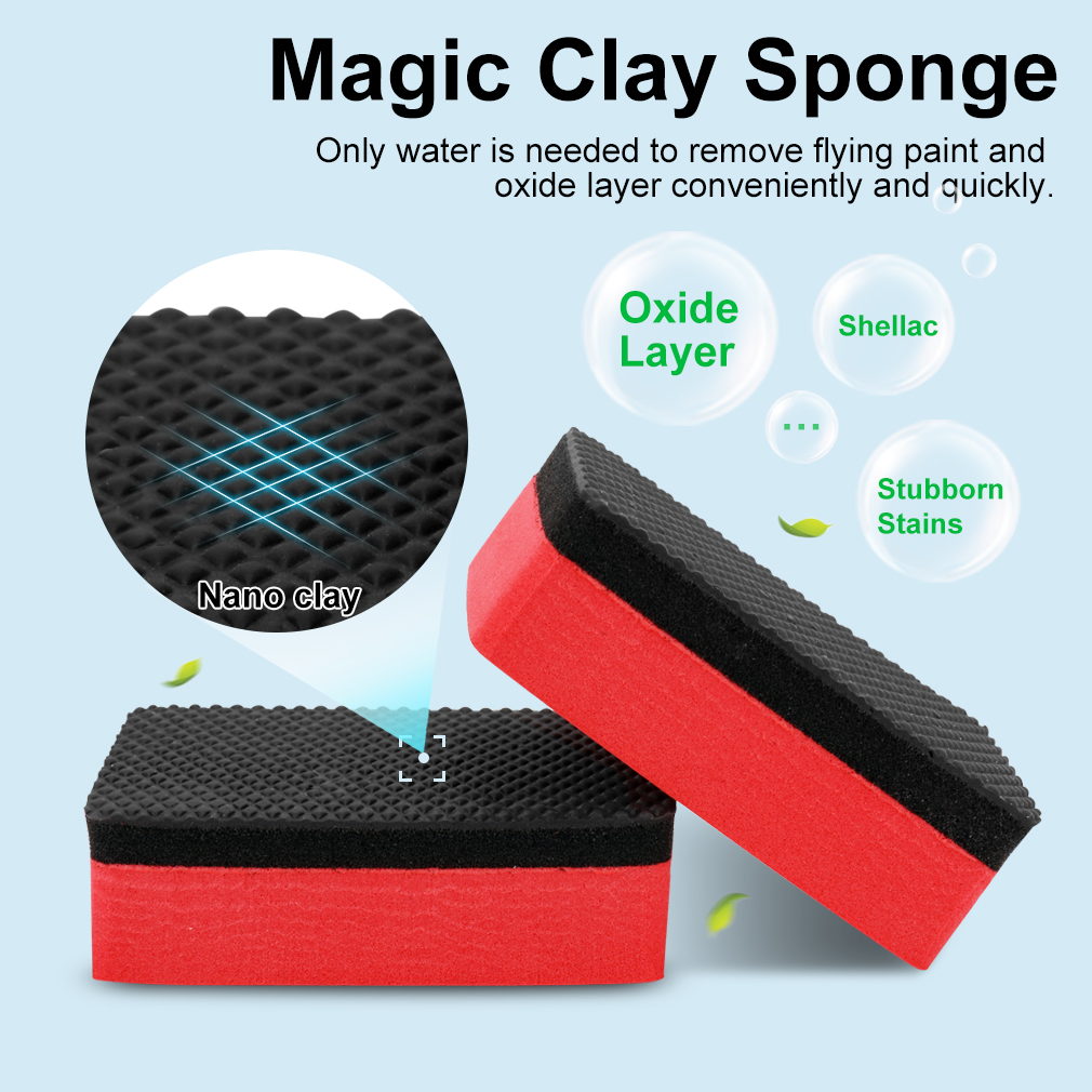 Image 4 - Multifunctional Car Auto Wheels Brush Sponge Cleaner Tools For Tire Hub Waxing Polishing Brush Cleaning Tools Car Accessories