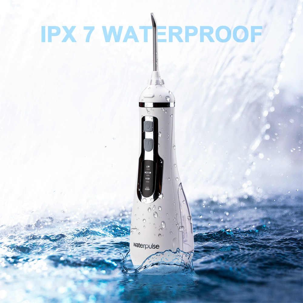 Cordless Orale Irrigators 4 Modalità di Acqua Portatile Dentale Jet Flosser USB Ricaricabile Oral Irrigator Con 4 Punte di 200ml