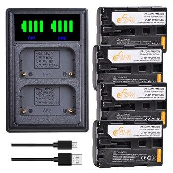 Kits de cargador de batería NP-FM500H NP FM500H de 1900mAh para Sony...