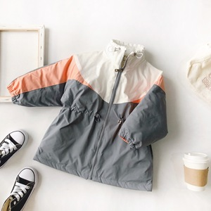 Image 5 - Winter girls coat New Arrival korean style cotton thickened matching colors fashion long jacket for cool sweet baby girls