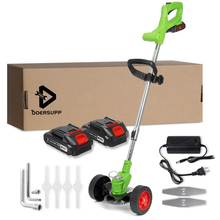 Para Makita 2/1 batería eléctrica de la rueda cortadora de hierba, 1500W 24V césped y jardín cortadora recargable sin hierba poda máquina herramienta