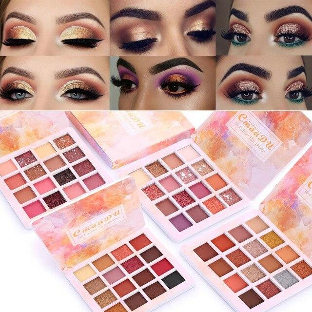 14 Colors Matte Eye Shadow Makeup Soft Glitter Shimmering Colors Metallic Eyeshadow Palette Naked Glitter Nude Make Up 5