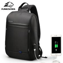 Kingsons 13 13.3 นิ้วแล็ปท็อปกระเป๋าคอมพิวเตอร์กันน้ำโน๊ตบุ๊คกระเป๋าเป้สะพายหลังสำหรับชายหญิงMessengerกระเป๋า/USB