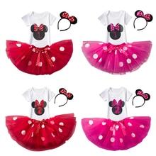 Новогоднее платье для маленьких девочек 1-24 месяцев