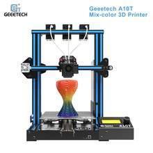Geeetech A10T Desktop 3D Printer Mix-Kleur Afdrukken Met GT2560 Besturingskaart Hervatten Printing Filament Detection 220*220*250Mm