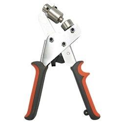 Mini instrukcja oczko Puncher ręcznie naciśnij przelotka dziurkacz szczypce maszyna do wykrawania narzędzie do oczko 10.5Mm w Kombinerki od Narzędzia na
