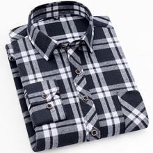 18 цветов осень зима теплое толстое мужское платье рубашка повседневная мужская клетчатая рубашка брендовая качественная Хлопковая мужская деловая рубашка мужская