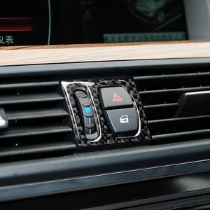 Image 4 - עבור BMW F10 5 סדרת 2011 2017 פנים סיבי פחמן רכב CD בקרת פנל פנים מדבקת AC פנל מסגרת אביזרי לשקע אוויר
