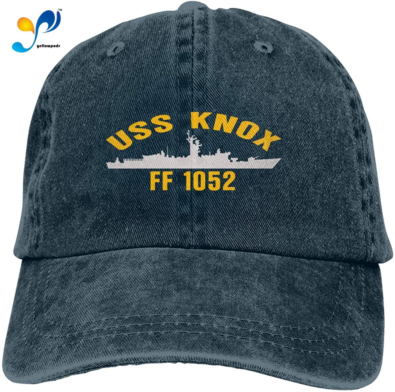 USS Knox Ff 1052 Кепка из джинсовой ткани, бейсболка, ковбойская Кепка Для Взрослых
