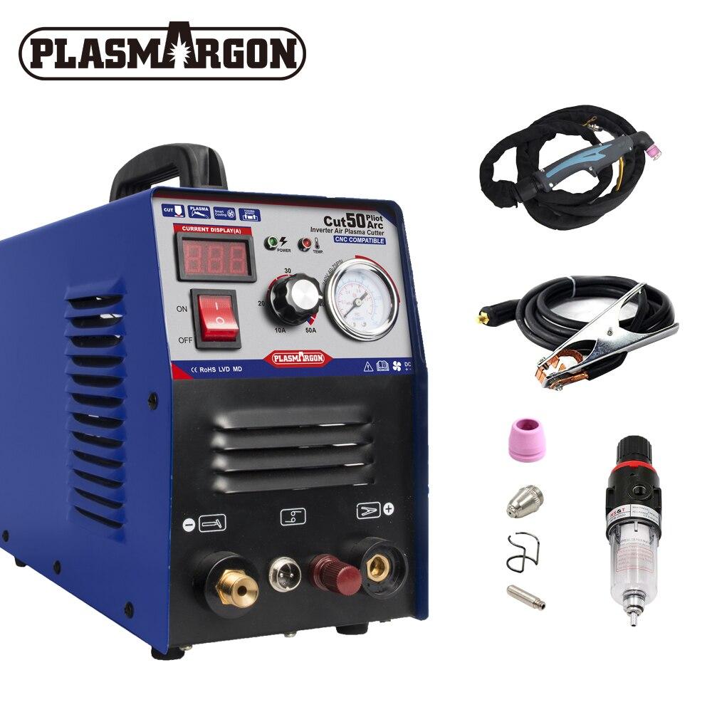 CUT50 Compatible Plasma Cutter & Accessoires 1-16mm 50A DC Inverter Air Plasma Cutter Pilot Arc CNC 110/220V HIGH QUALITY