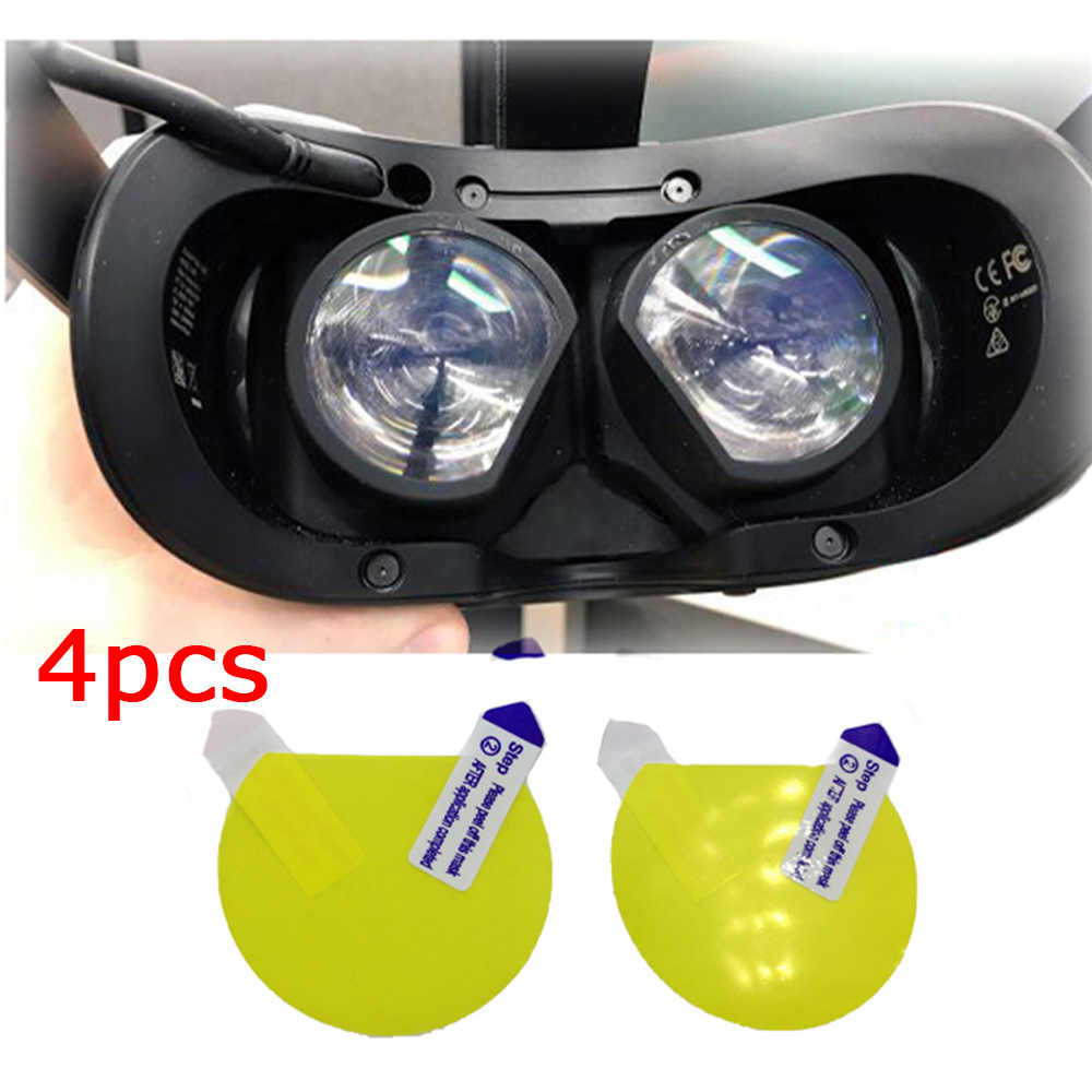 4pcs Lens Film VR Screen Protective Film For Valve Index Headset Helmet Anti Scratch Lens Protector