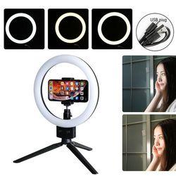 Nueva llegada LED anillo luz regulable 5500K lámpara fotografía Cámara foto estudio teléfono Video anillo luces accesorios Cámara