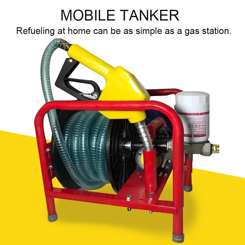 Diesel Electric Pump 12V Volt Pump Self-priming Pump High Power Refueling Gun Metering Refueling Machine