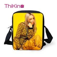 Thikin Billie Eilish Shoulder Messenger Bag for Girls Crossbody Phone Boys Shopping Bags Mochila Infantil