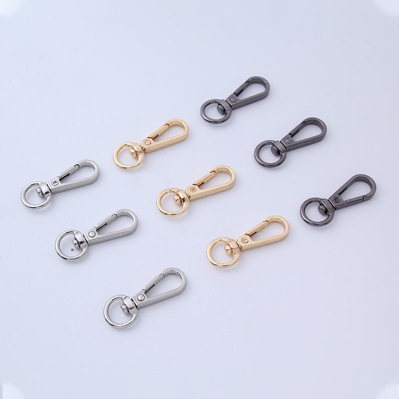 5 pcs Pack Metal Lobster Clasps Swivel Clips Hooks Key Ring Keychain Many Colors