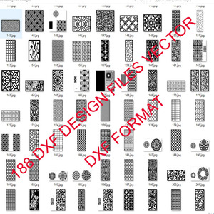 Image 3 - 188 metal door window decor hollow sheet dxf format 2d vector design drawing for CNC laser plasma cutting files collection