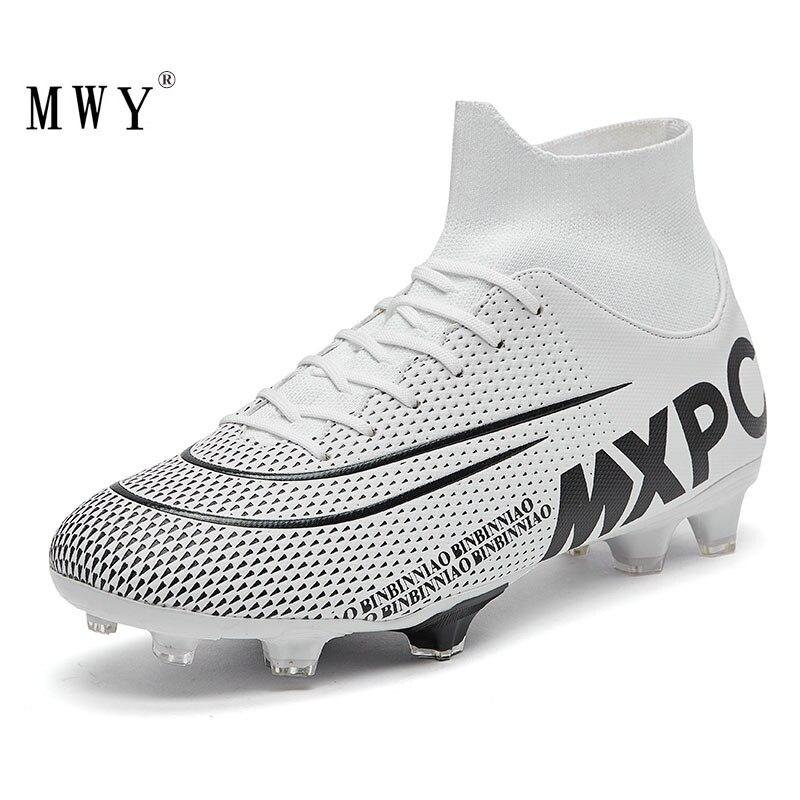 MWY Männer Fußball Schuhe High Top Fußball Stiefel Futsal Schuhe Männer Stollen Kinder Fußball Schuhe Sneakers Training Schuhe Voetbalschoenen