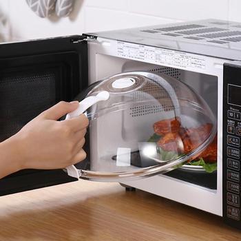 Profesjonalna kuchenka mikrofalowa pokrowiec przeciwpyłowy z uchwytem odporna na ciepło pokrywa do żywności w mikrofalówce Dropshipping tanie i dobre opinie CN (pochodzenie) microwave oven dish cover Naczynia kuchenne CE UE microwave oven food cover PP food cover