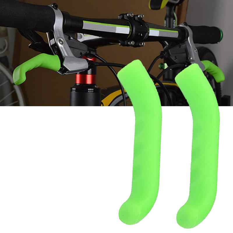 Silicone Anti-slip Bicycle Brake Lever Cover Handle Sleeve Grip Protector 1 Pair