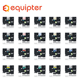 31 color tze label tape Compatible for Brother p-touch printers Tze231 Tze-231 12mm for Brother P Touch Tze PT Labeler tze231(China)