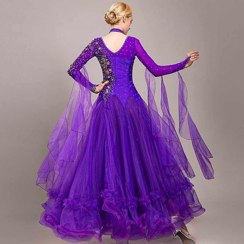 Vestido de baile de salón vestido de baile para mujer vestido de baile estándar vestido de vals con flecos rumba disfraces danza moderna ropa de disfraz para baile