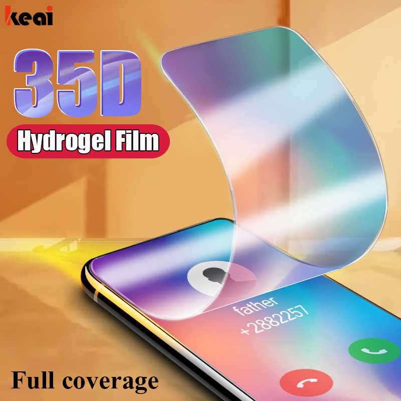 35D Full Screen Protector Film For Xiaomi mi 9 se 8 lite Hydrogel Film For Xiaomi mi 9t A3 Lite CC9E CC9 Pro A1 A2 Not Glass
