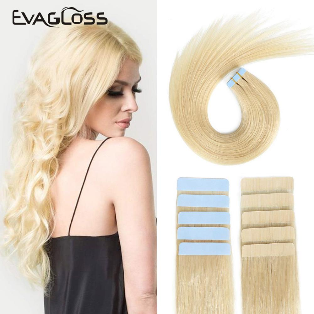 EVAGLOSS Tape In Human Hair Extensions 12