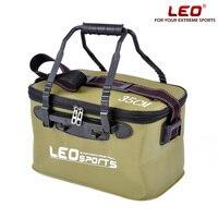 휴대용 접는 EVA 낚시 양동이 지퍼 야외 낚시 태클 상자 핸들 3 색 5 크기 캠핑 하이킹 낚시 상자