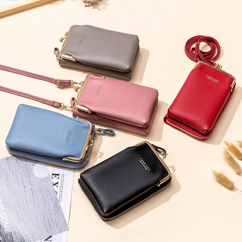 Cell Phone Purse Bag Smartphone Wallet Tassel Leather Shoulder Strap Handbag Women Bag Leather Wallet Female Purses Big Capacity