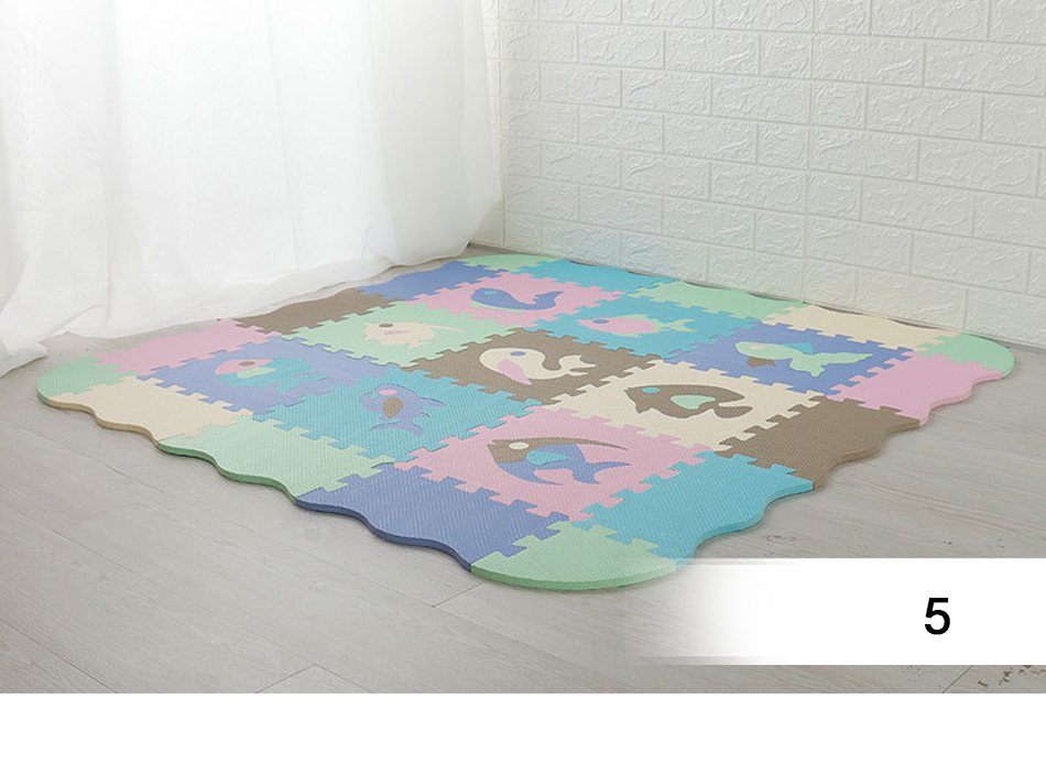 He1fec8fdd5154f7095f1836ce86e46b88 25Pcs Kids Toys EVA Children's mat Foam Carpets Soft Floor Mat Puzzle Baby Play Mat Floor Developing Crawling Rugs With Fence