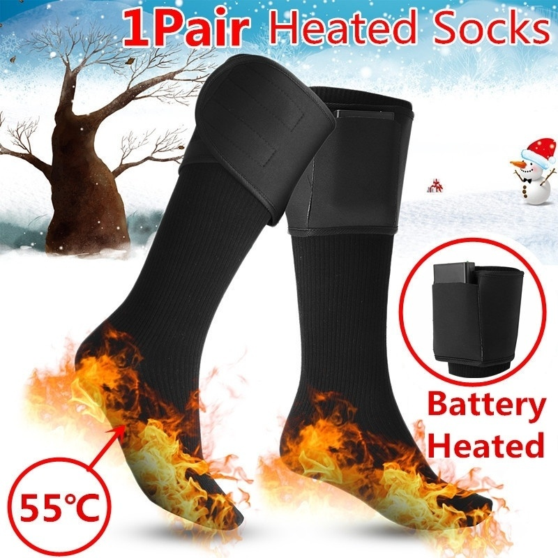 Heated Socks Heating Socks Men Women Battery Case Battery Operated Winter Foot Warmer Electric Socks Warming Ski Socks Guard
