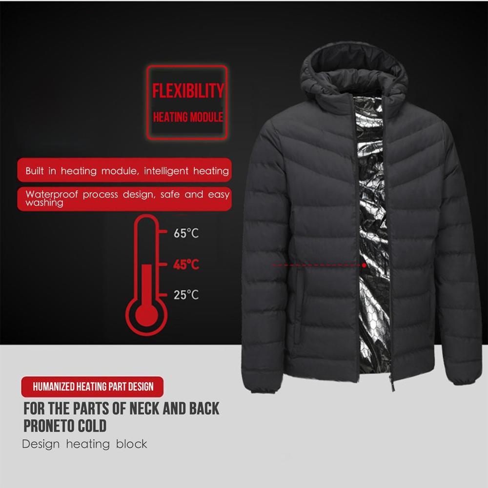 Для мужчин и женщин, для улицы, USB, инфракрасное Отопление, пальто, пуховик, зимняя, гибкая, электрический нагреватель, термальная одежда, рыб...