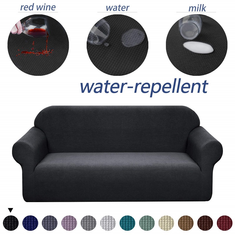 Waterproof Spandex <font><b>Sofa</b></font> Cover 3 Seat Couch Covers for Living Room Anti-Slip <font><b>Sofa</b></font> Slipcover <font><b>Sofa</b></font> Couch for Dogs, Cats, Pets, Kids image