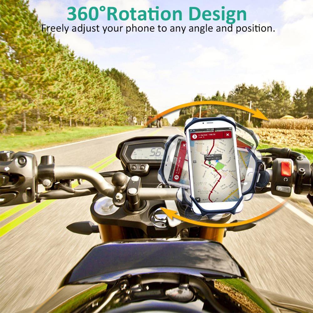 Купить с кэшбэком 2Pcs Universal Bicycle Mobile Phone Holder Silicone Motorcycle Bike Handlebar Stand Mount Bracket Mount Phone Holder For Phone