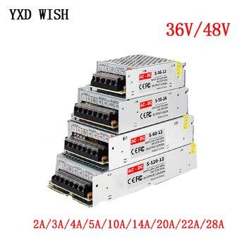 36 V 48 V Netzteil 110V/ 220V ZU 36 V 48 V 2A 3A 4A 5A 10A 20A 28A 600W 1000W AC-DC Quelle Transformator Schalt Netzteil